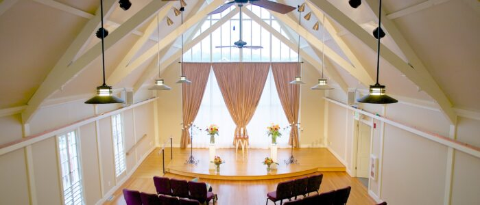 Image of interior of Northlake Chapel for weddings