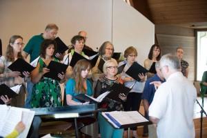 Image of Northlake choir during Bridging Ceremony