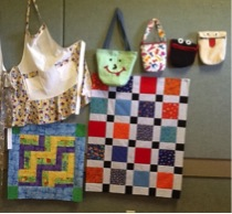 Image of Seamsters crafts and blankets