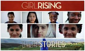 Image of 'Girl Rising' poster advertising movie event at Northlake