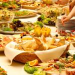Display of food at potluck