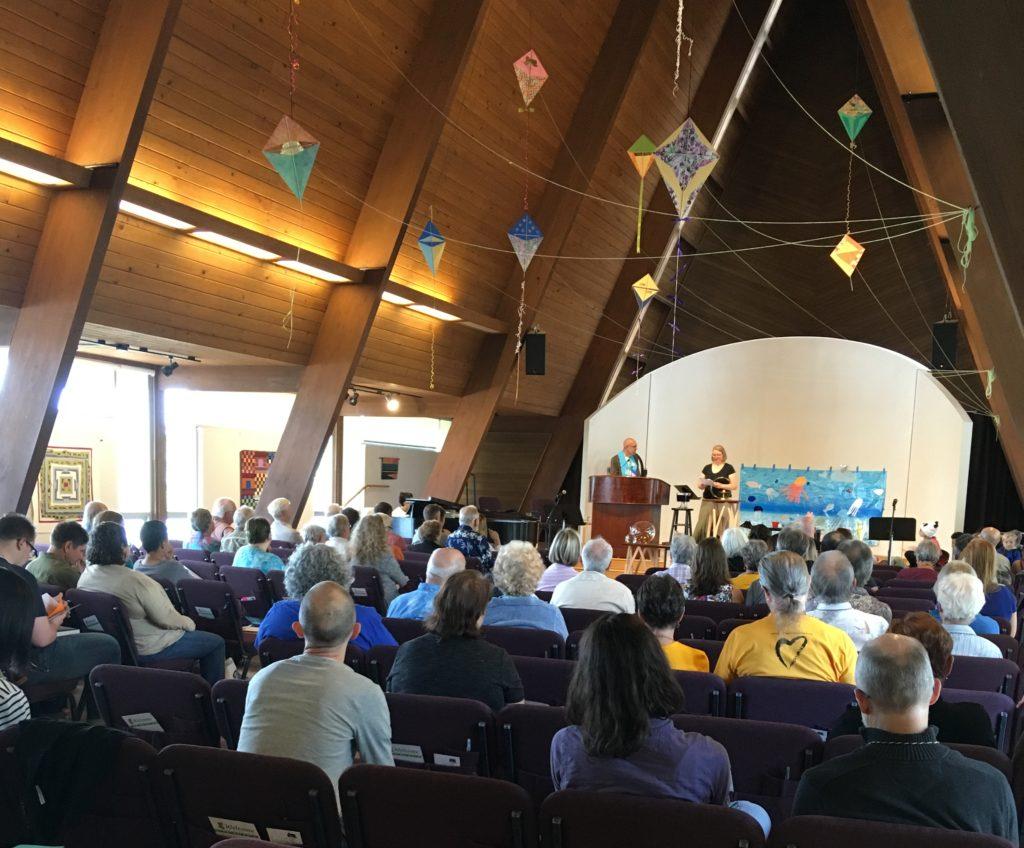 photo of Northlake sanctuary with kite decorations