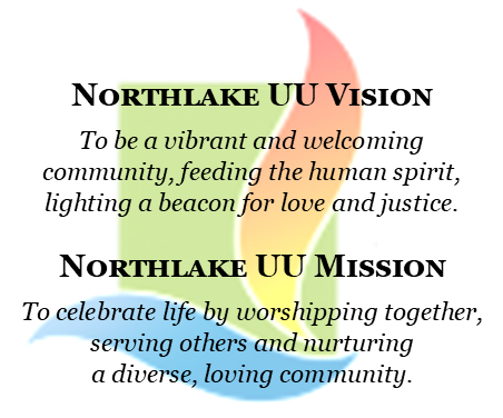 Northlake logo with mission and vision superimposed
