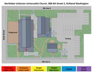 map of Northlake campus