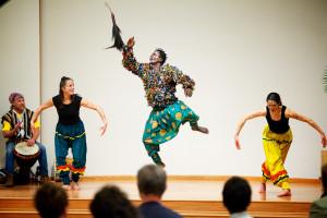 Image of Awal dancing in costume