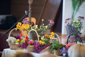 Image of basket of flowers for Flower Communion