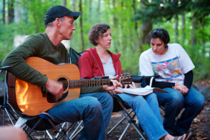 Image of 3 people at Northlake Camping
