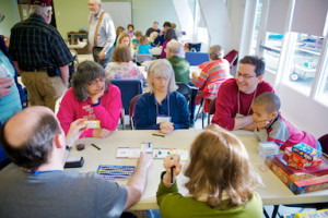 Image of Games Night at Northlake with images of adults and children playing games