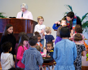 Image of Northlake children attending service Time For All Ages