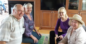 Cary L., Nancy L., Diane F. and Ilene S. at Summerfest 2015