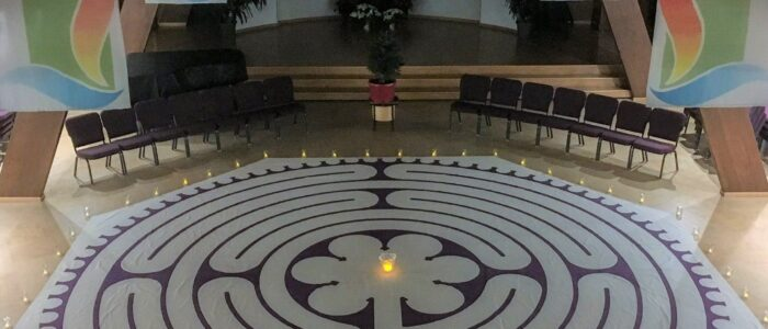 Image of a labyrinth in Northlake sanctuary