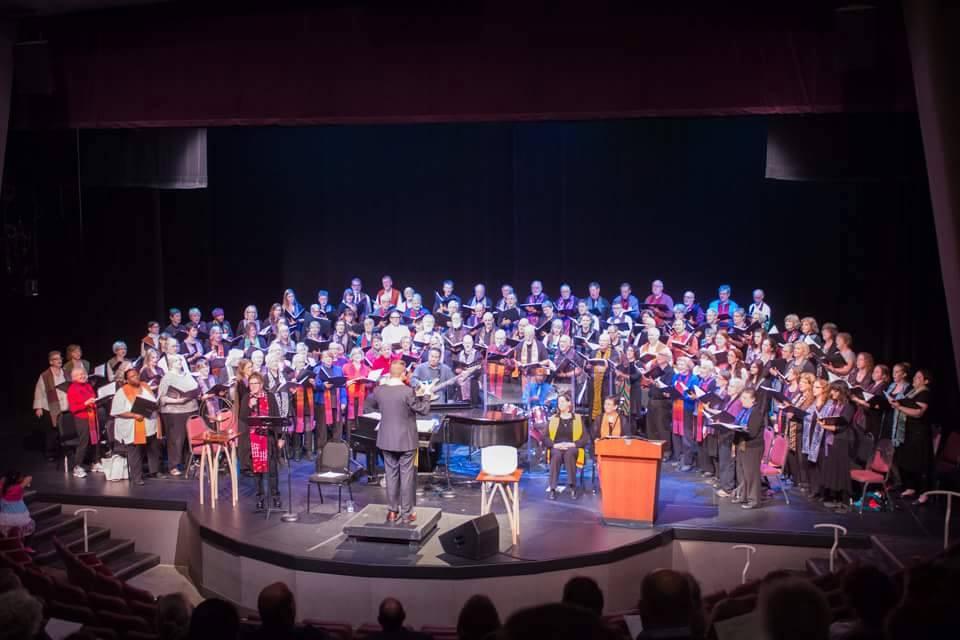 Northlake choir at interfaith performance
