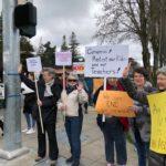 photo of Northlakers at a vigil about gun violence